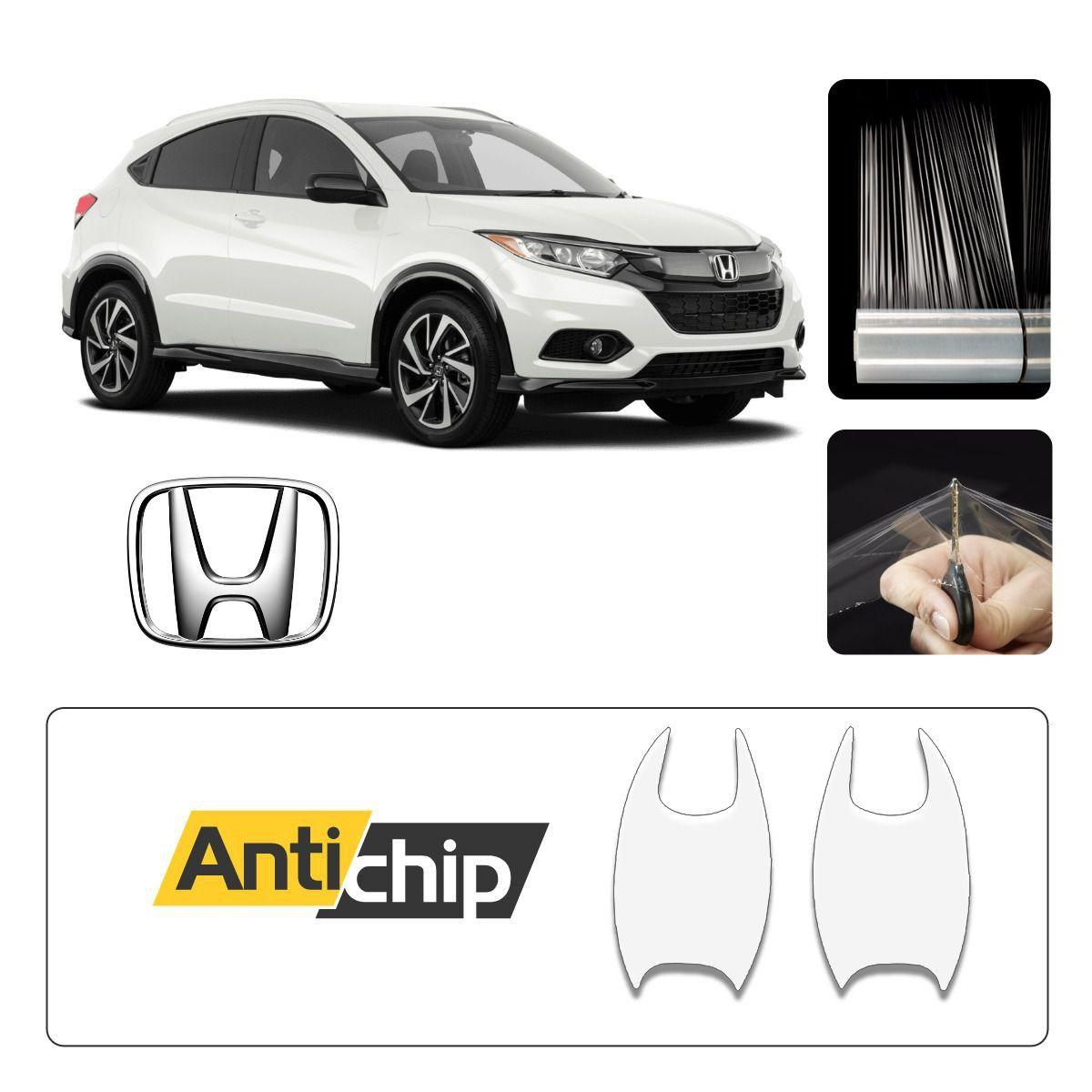 Kit Proteção Maçaneta + Soleira + Canto Porta Honda HRV - Antichip