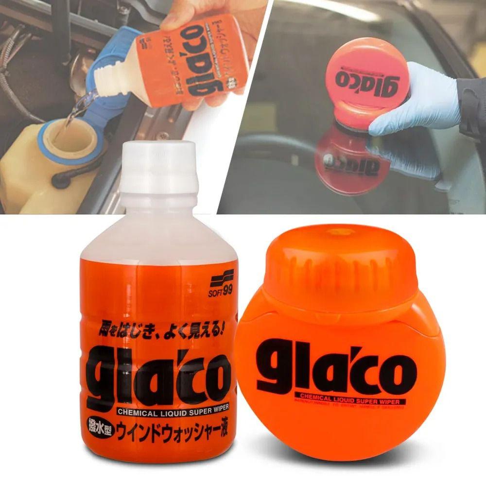 Kit Repelente Água Parabrisa Glaco Big 120ml + Aditivo para Reservatório Glaco Washer 220ml Soft99