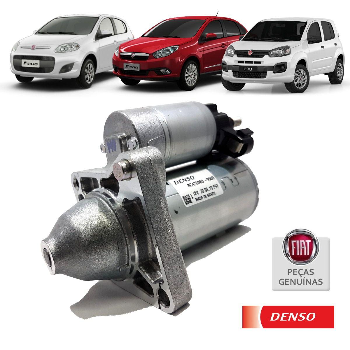 Motor de Partida Fiat Uno Palio Grand Siena 1.4 - Denso