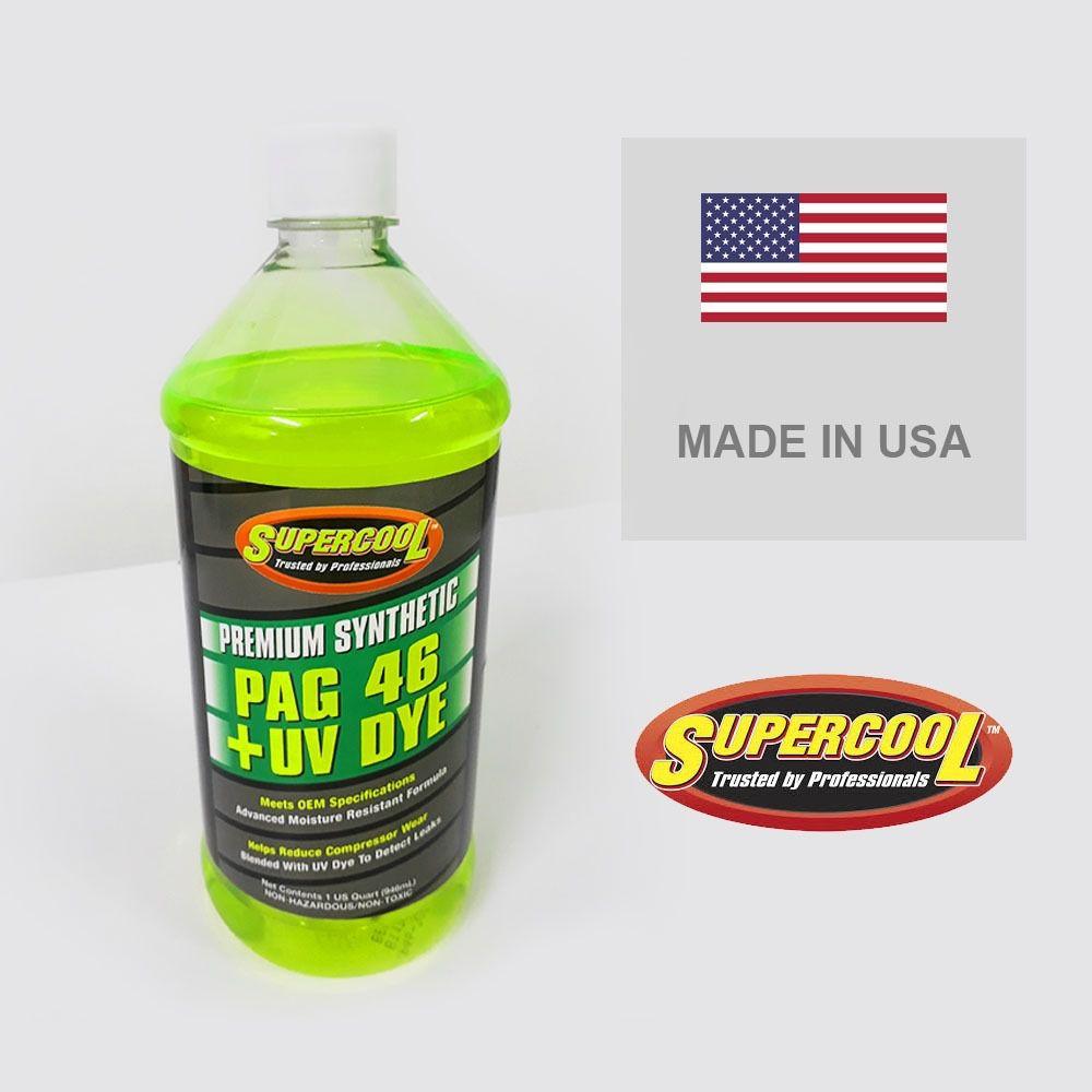 Óleo Para Compressor Pag 46 + Uv Dye 237 Ml - Supercool