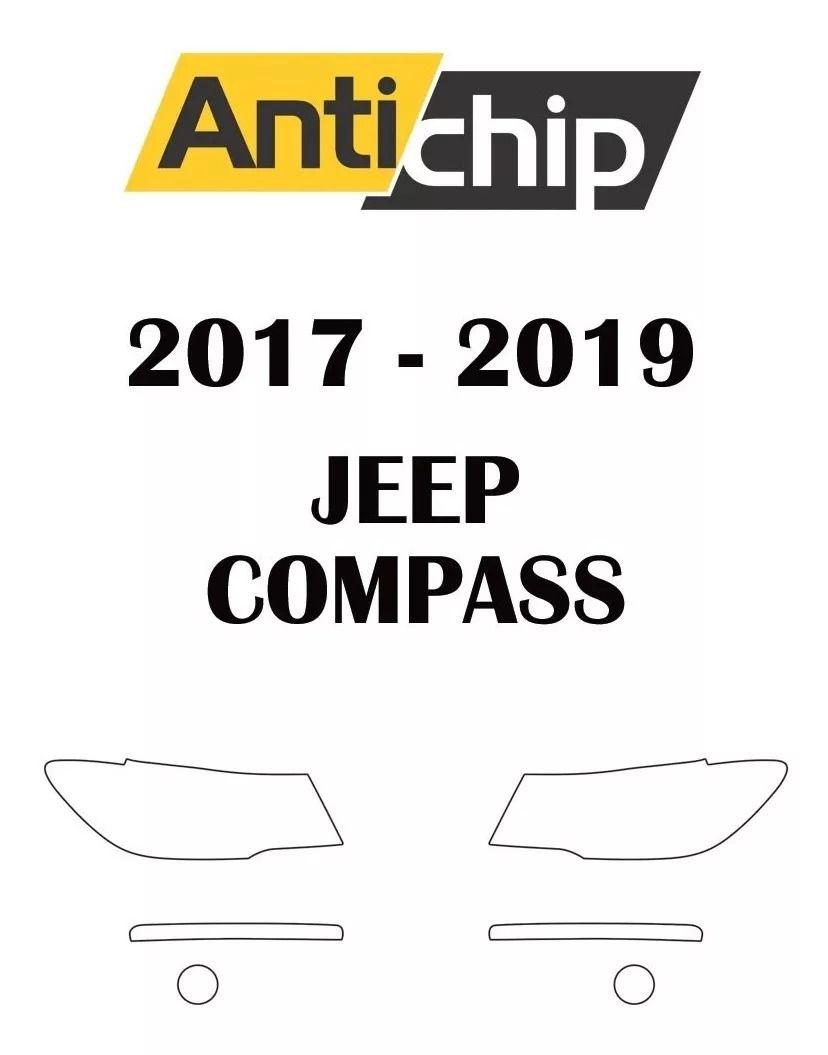 Película Protetora de Pintura Farol Jeep Compass 2017/2019 -  Antichip