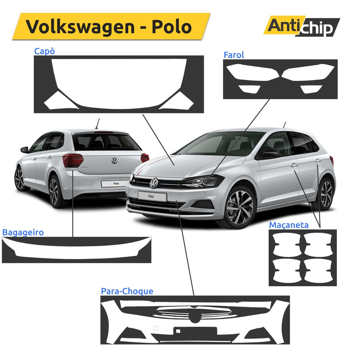 Película Automotiva PPF Anti-Risco Volkswagen Polo - Antichip