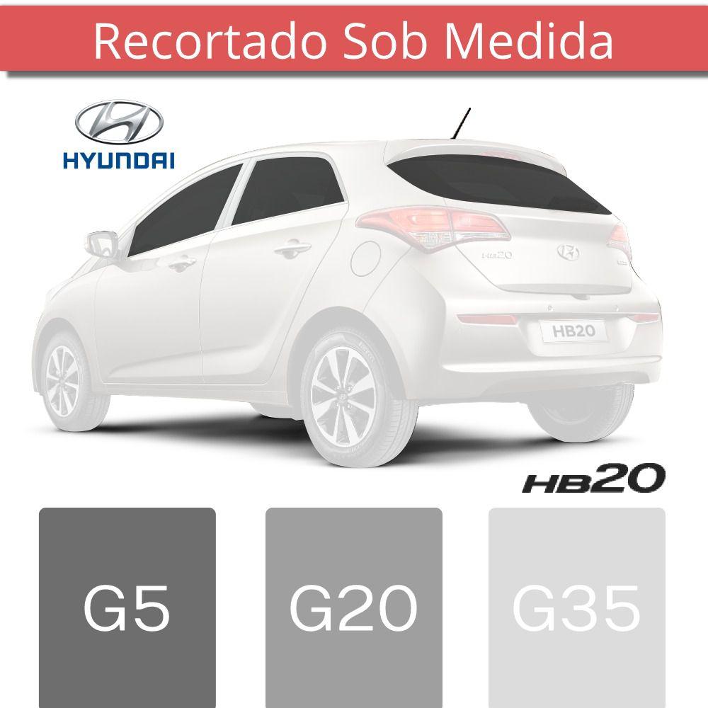 Película Insufilm Hyundai HB20 Hatch Cortado Sob Medida - Antichip  - Autoair