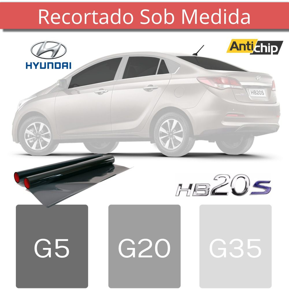 Película Insufilm Hyundai HB20S Cortado Sob Medida - Antichip