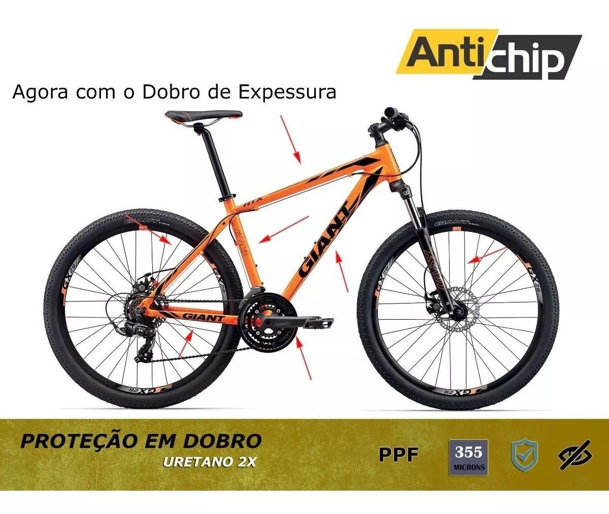 Película Protetora de Pintura Bicicleta Giant 355 microns - Antichip