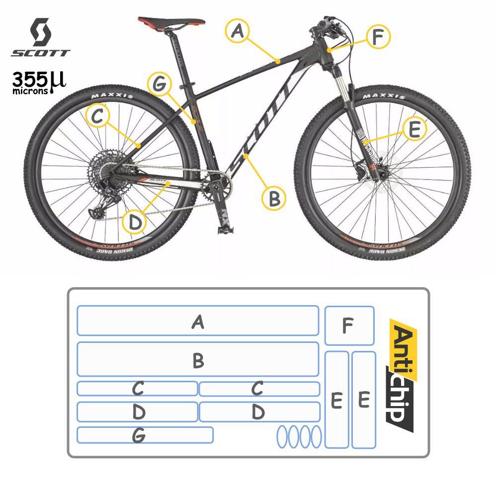 Película Protetora de Pintura Bicicleta Scott 980 - 355 Micr - Antichip
