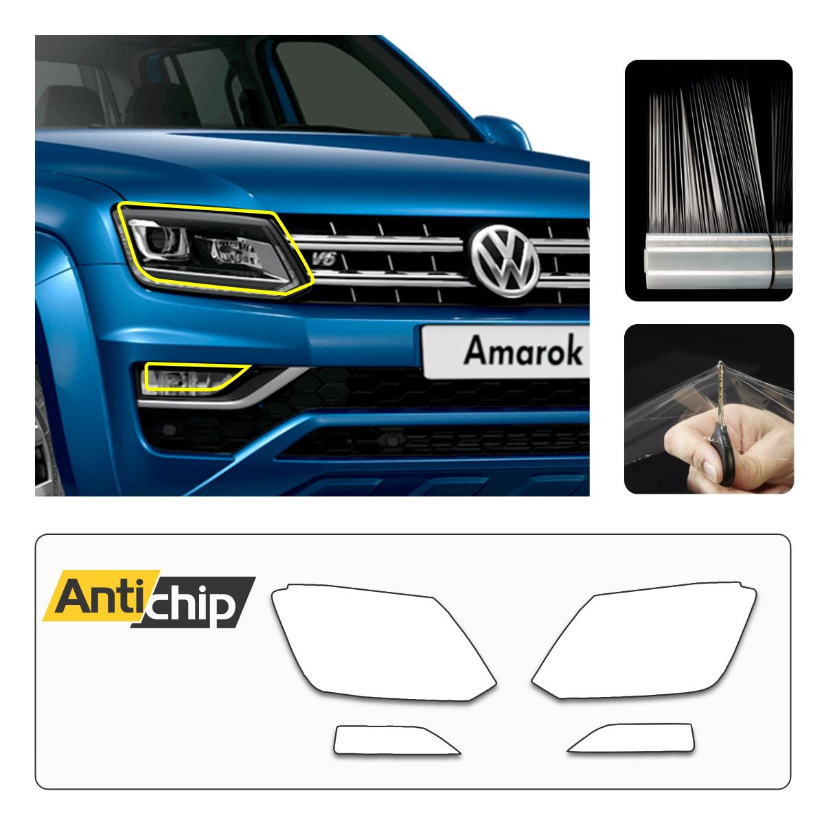 Película Protetora de Farol VW Amarok - Antichip