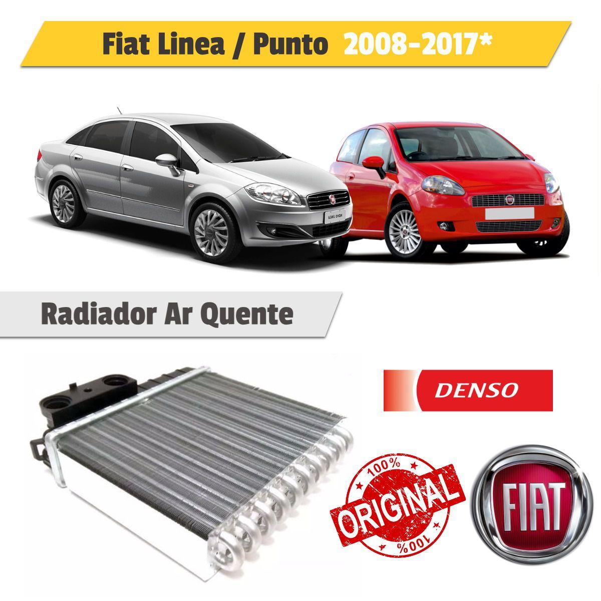 Radiador Ar Quente Punto 2008 a 2016 Linea 2008 a 2016 - Denso