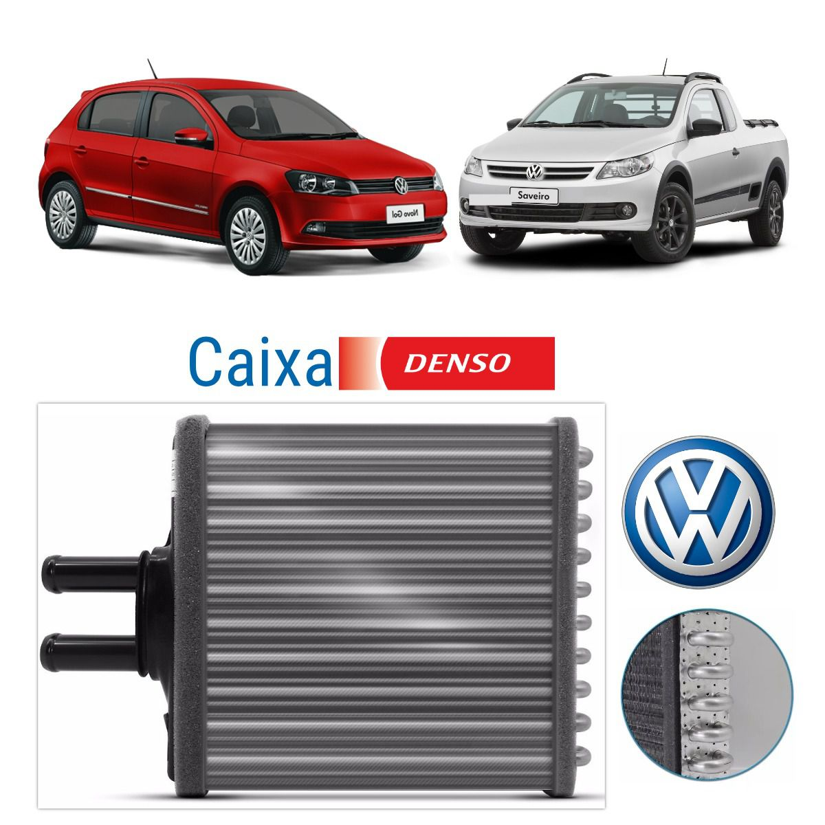 Radiador Ar Quente Volkswagen Fox, Polo, Gol G5-6 , Voyage - Denso