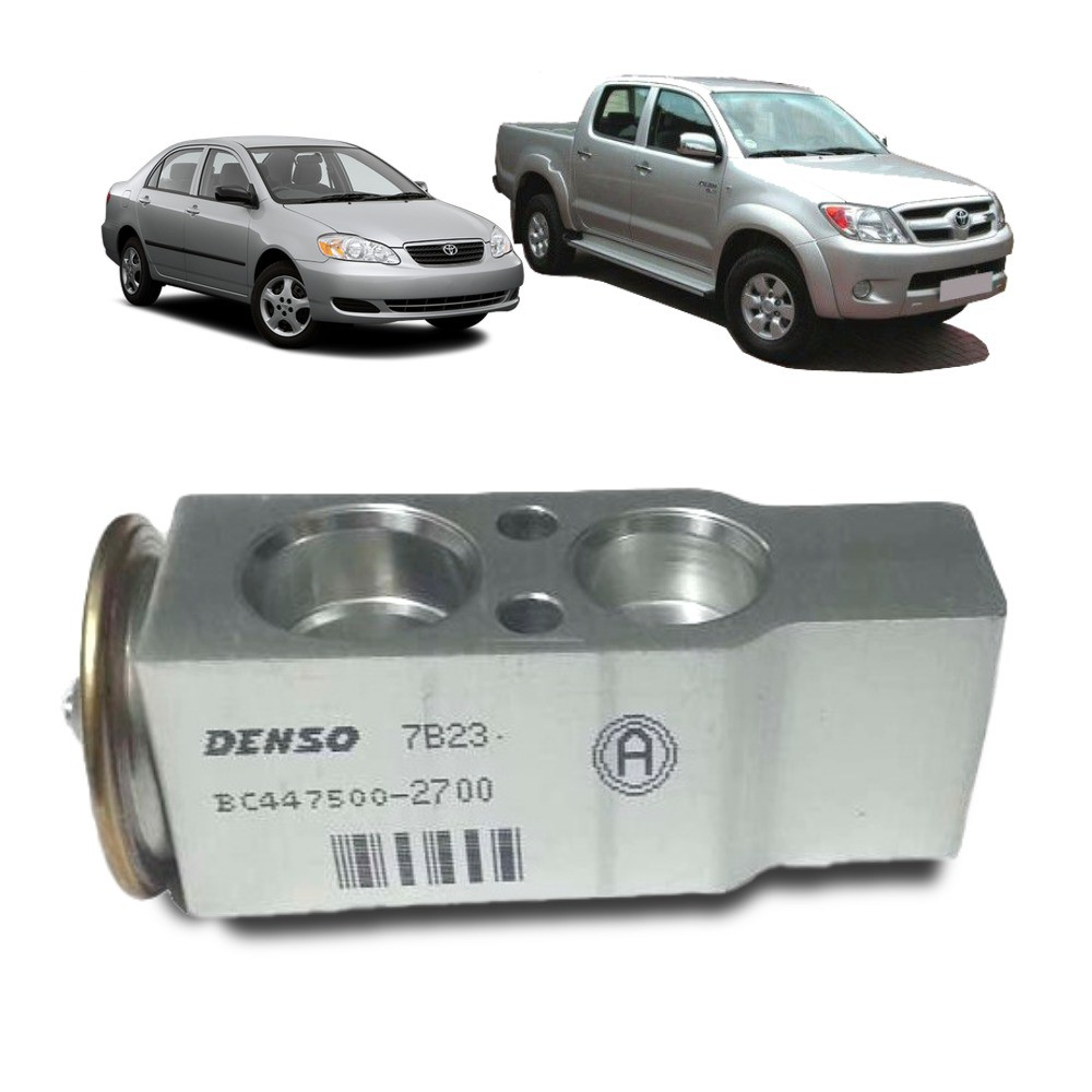Válvula de Expansão Toyota Corolla e Hilux 2003-08 - Denso