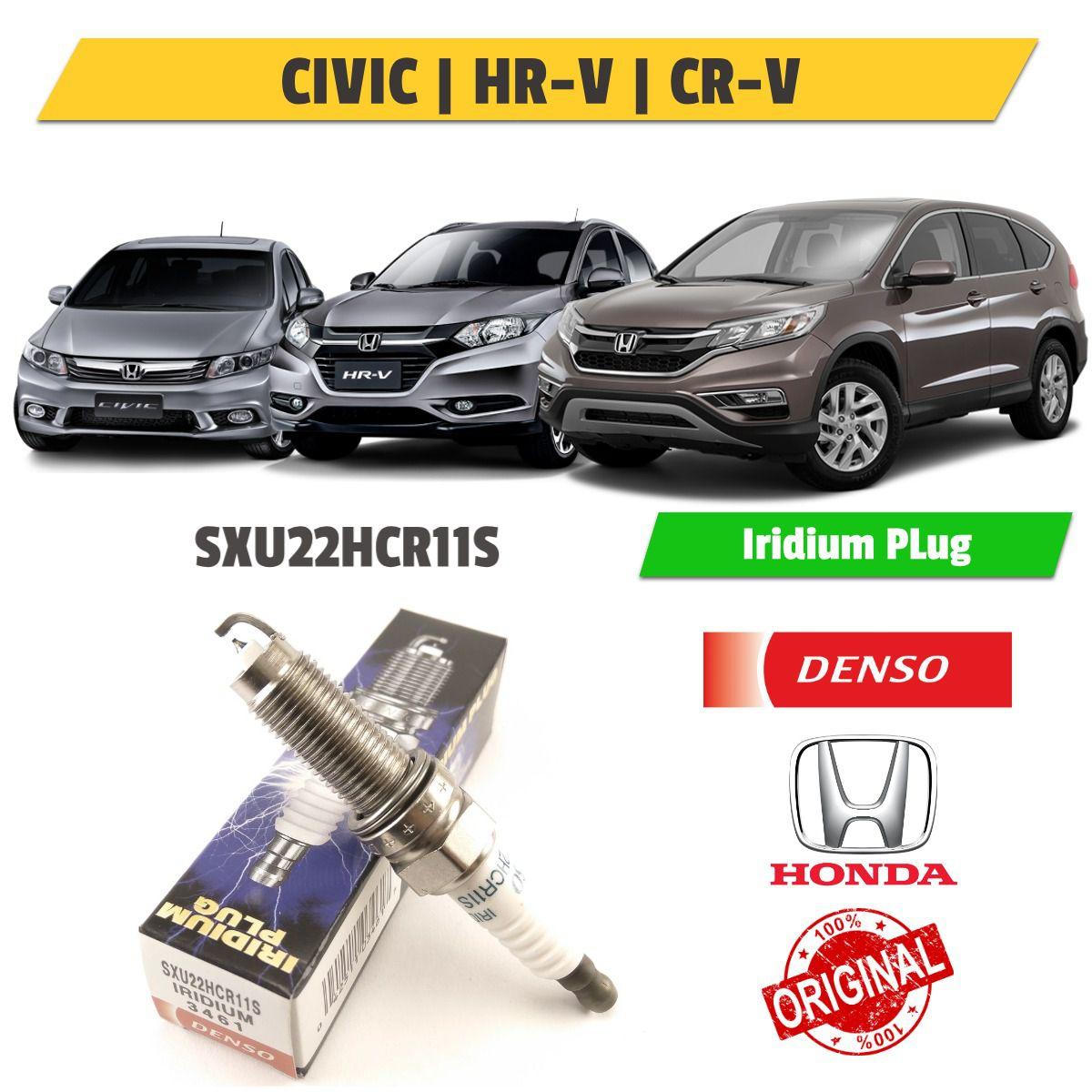 Vela Ignição Iridium Honda Civic, hr-v e Cr-v sxu22hcr11s - Denso