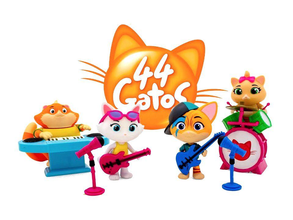 44 Gatos Coleção da Banda Completa com os 4 Personagens