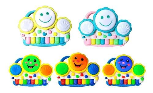 Brinquedo Pianinho Musical Baby Infantil Musicas Som Bichos Tambor