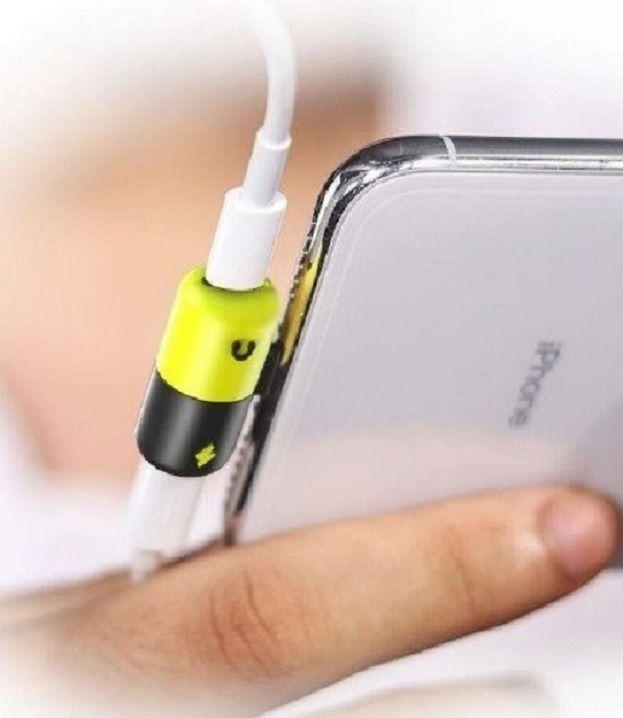 Adaptador Lightning Divisor para Carregador e Fone de ouvido para Iphone 6 7 8 X