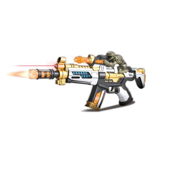 Arma de Brinquedo com Som Realista, Movimentos Mira Laser e Luz