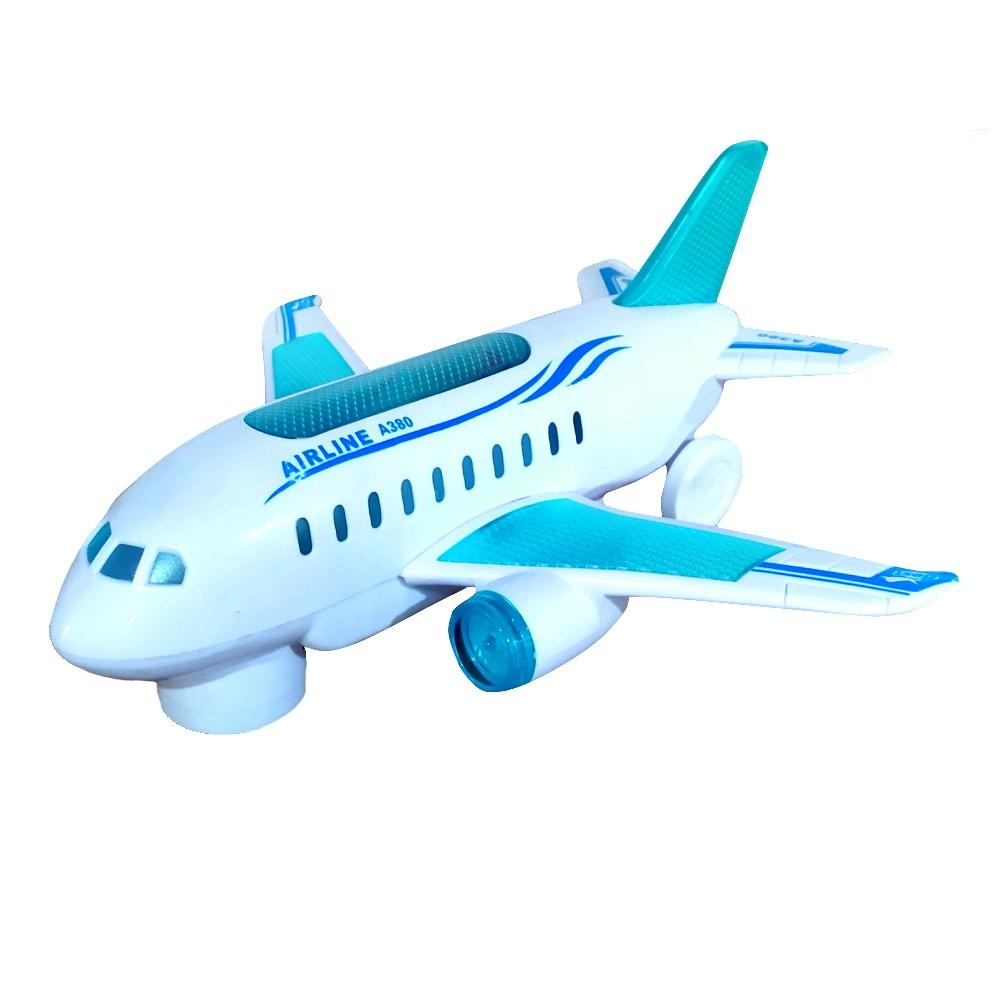 Avião A380 Musical Anda com Luzes e Sons e Bate e Volta Brinquedo Infantil