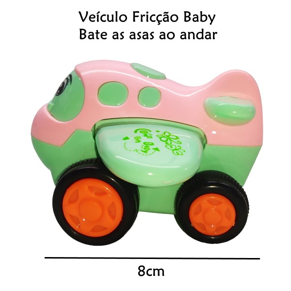 Avião de Fricção Divertido Baby Colorido