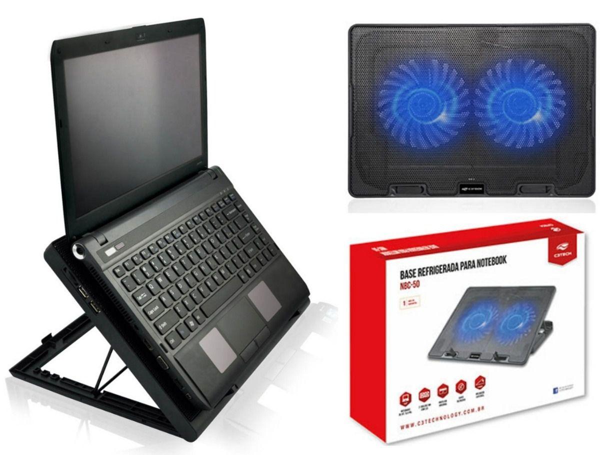 Base Cooler Refrigerada para Notebook FAN C3Tech até 14 Polegadas
