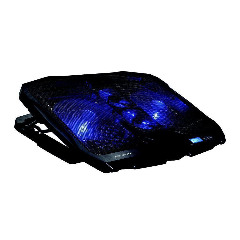 Base para Notebook com Cooler Duplo Refrigerada C3 Tech até 15,6 Polegadas