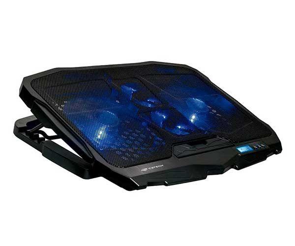 Base Refrigerada Com 4 Coolers Para Notebook Gamer NBC-100BK C3Tech