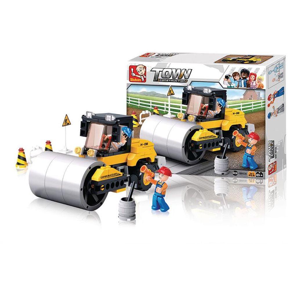 Blocos de Montar Playset de Construção com Caminhão e Bonecos 171 peças