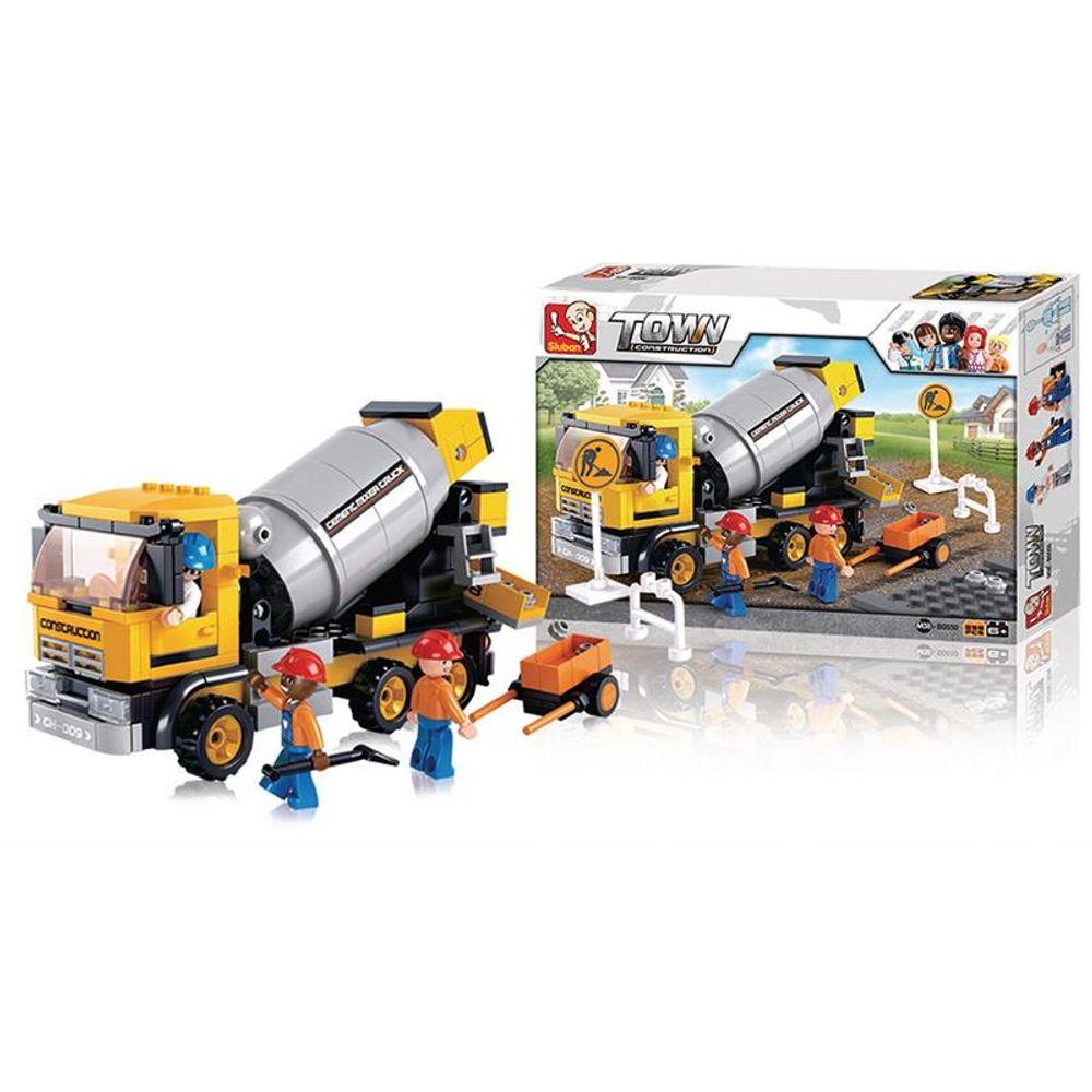 Blocos de Montar Playset de Construção com Caminhão e Bonecos 248 peças
