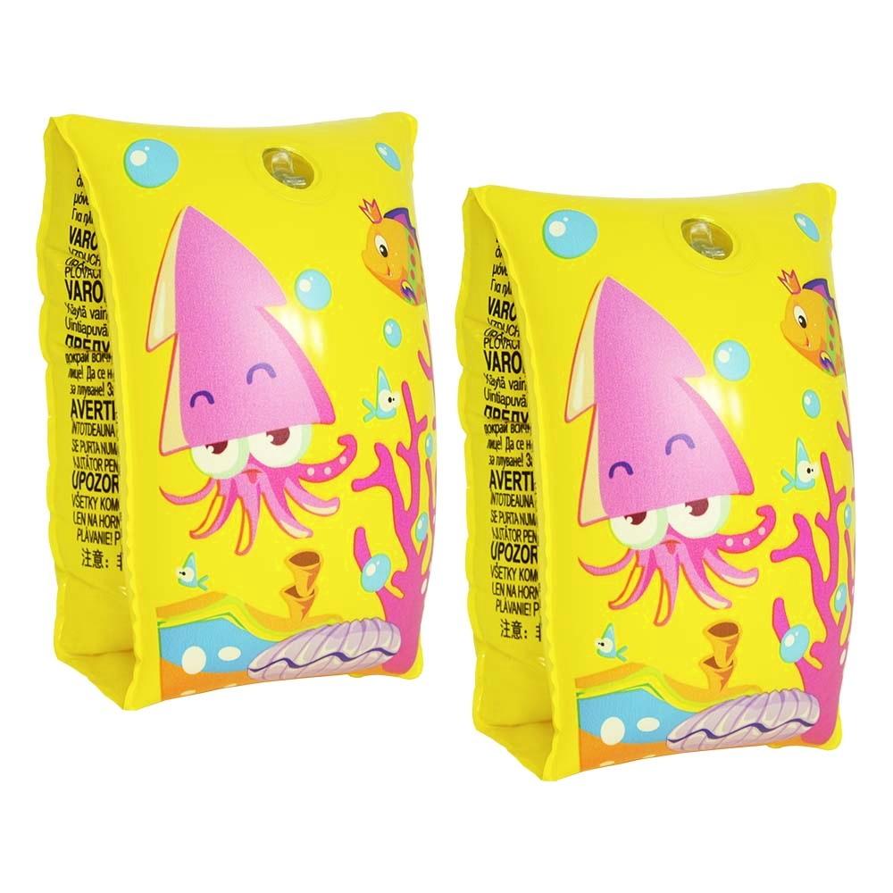 Boias Peixinhos kit de Cintura e Braços Meninos e Meninas Amarelo