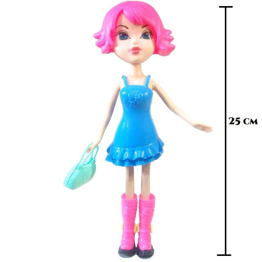Boneca Fashion Troca Cabelo com acessórios Tipo Barbie