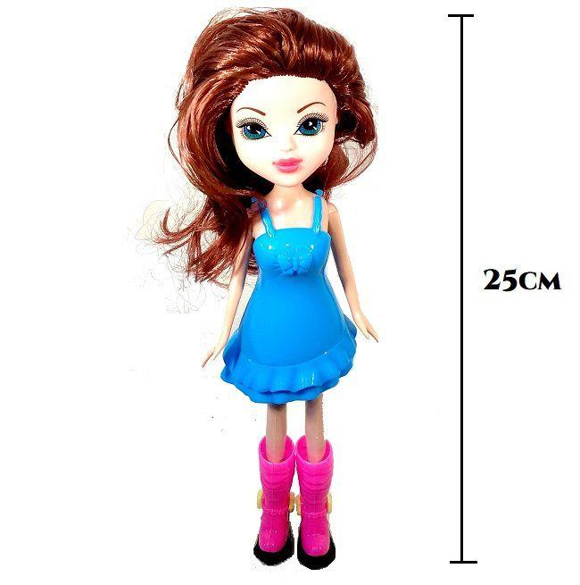 Boneca Fashion Troca Roupas com acessórios Tipo Barbie