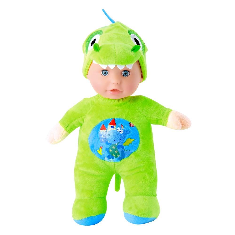 Boneca Grande Baby Fofys Macia com Música Suave e Chupeta - Dinossauro