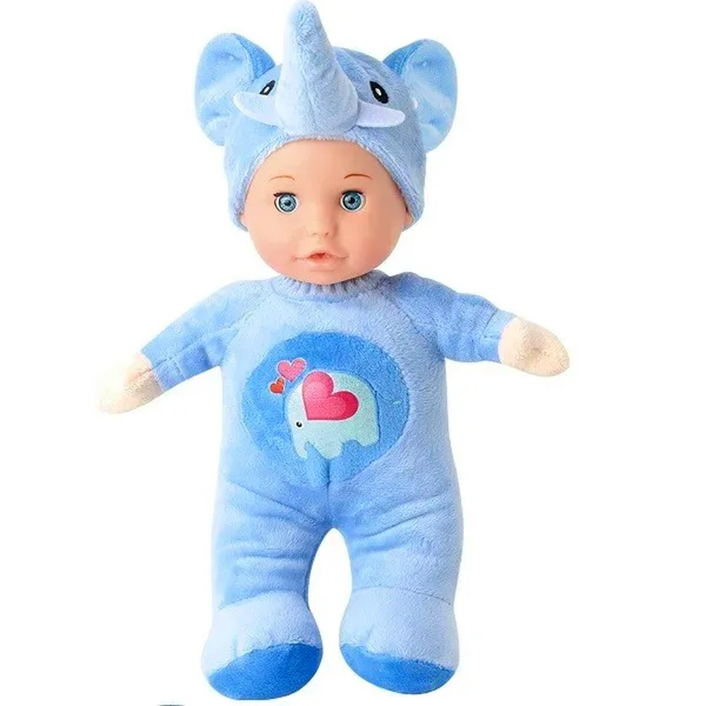 Boneca Grande Baby Fofys Macia com Música Suave e Chupeta - Elefante