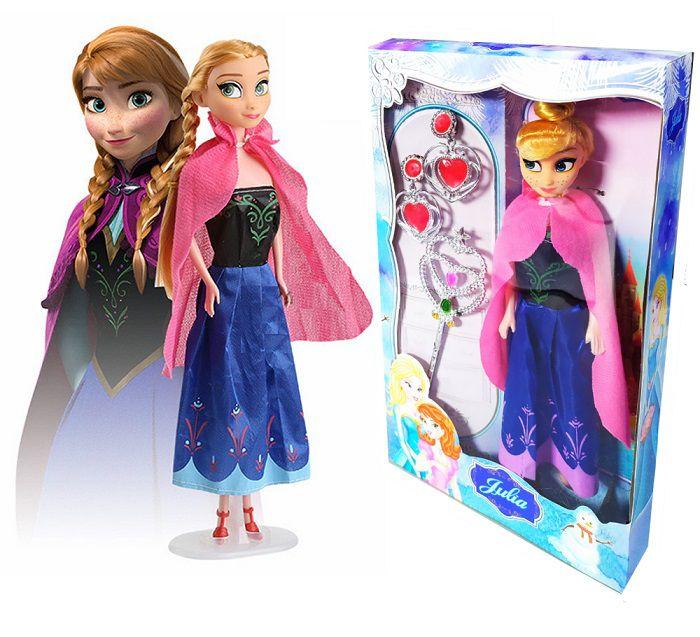 Boneca Julia Frozen Princesa Ana com acessórios - acima de 4 anos