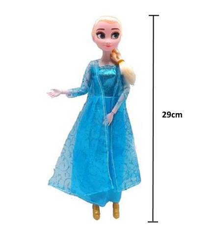Boneca Julia Frozen Princesa Elsa com acessórios - acima de 4 anos