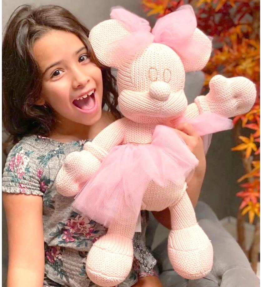 Boneca Minnie Tricô Grande 45cm Artesanal Infantil ou Decoração