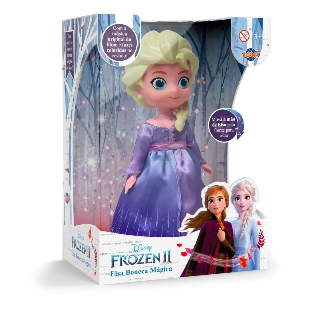 Boneca Musical Disney Elsa do filme Frozen 2 Dança com Som e Luz