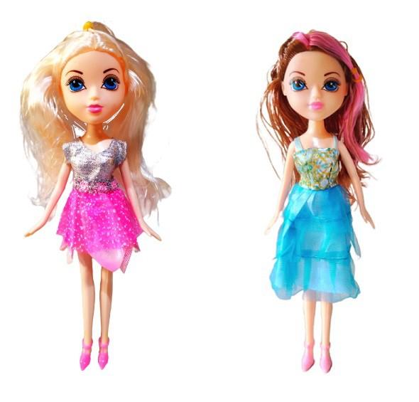 Boneca Pretty Fashion com Acessórios de Cabelo Tipo Barbie