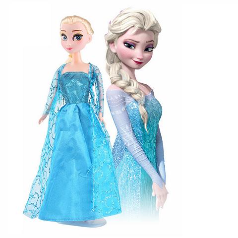 Boneca Princesa Elsa Frozen + acessórios