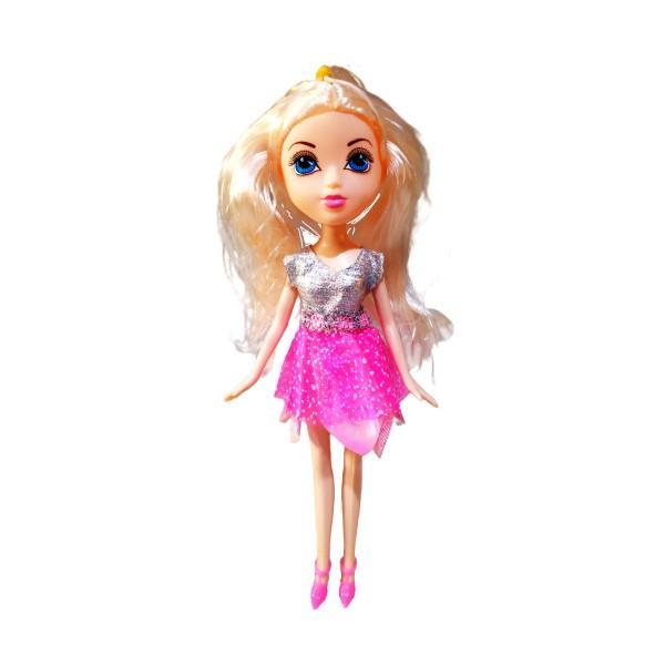 Boneca Princesa Pretty Fashion Girl com Vestido Rosa e Acessórios