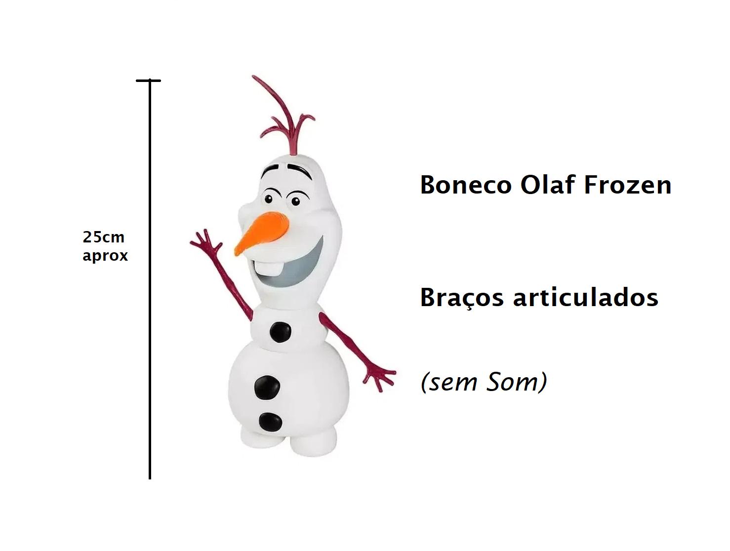 Boneco de Vinil Olaf Frozen 25cm Braços Articulados
