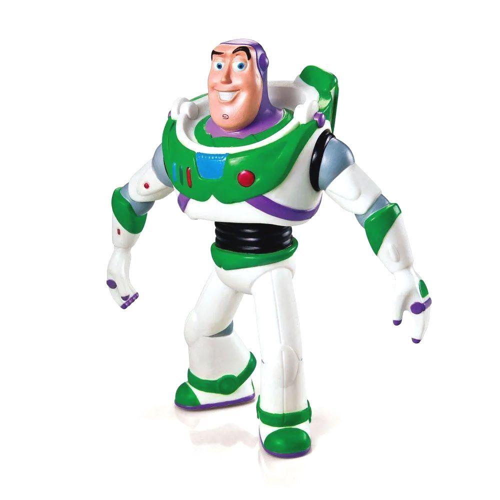 Boneco do Buzz Lighyear Toy Story Braços e Cabeça Articulados Disney Pixar