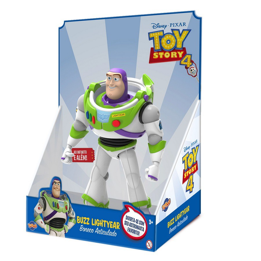 Boneco do Toy Story Buzz Lightyear Articulado 23cm Disney Pixar
