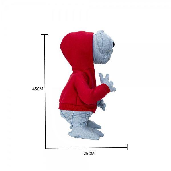 Boneco ET Clássico Artesanal em Jeans Claro Licenciado Universal Design Premiado