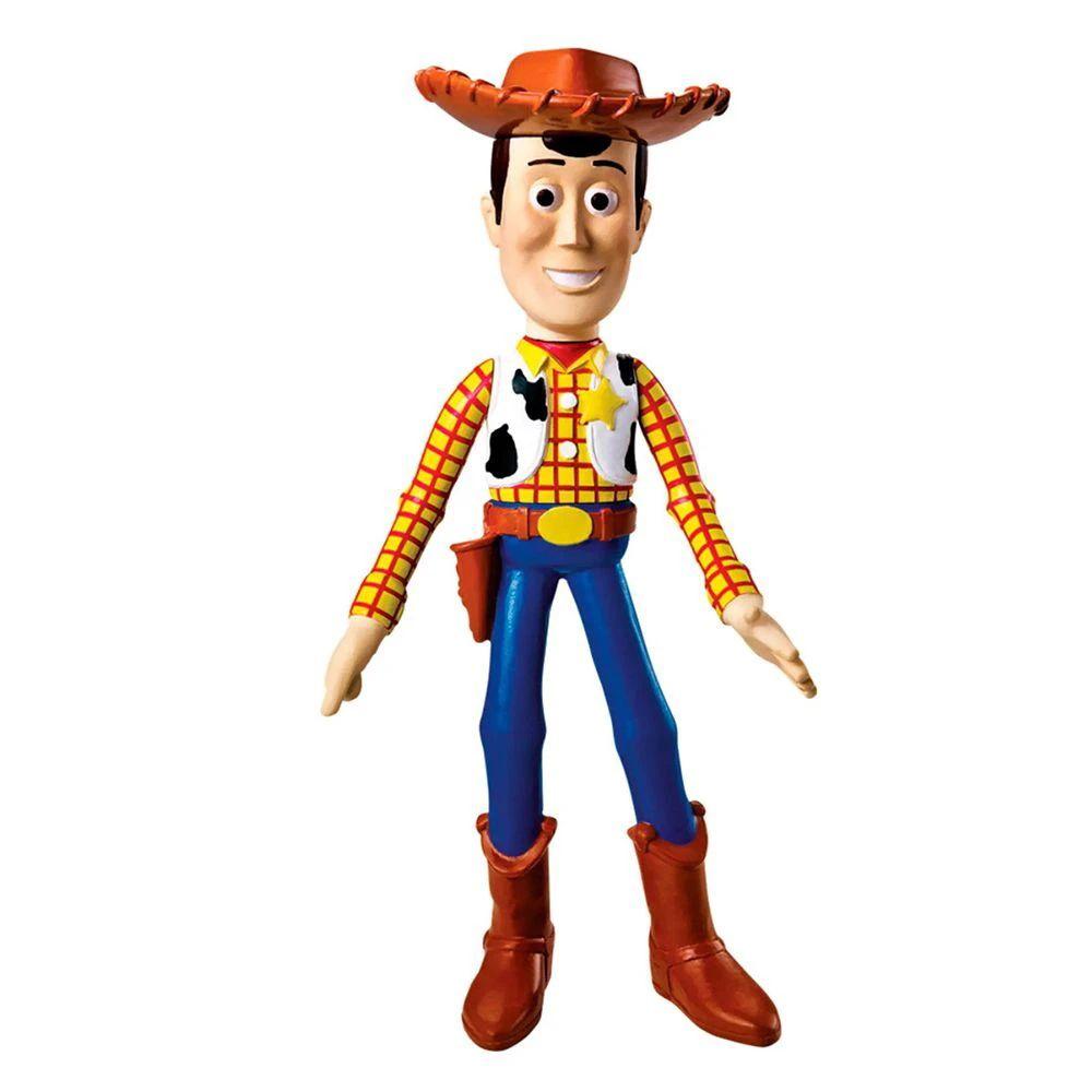Boneco Woody Toy Story Braços e Cabeça Articulados Disney Pixar