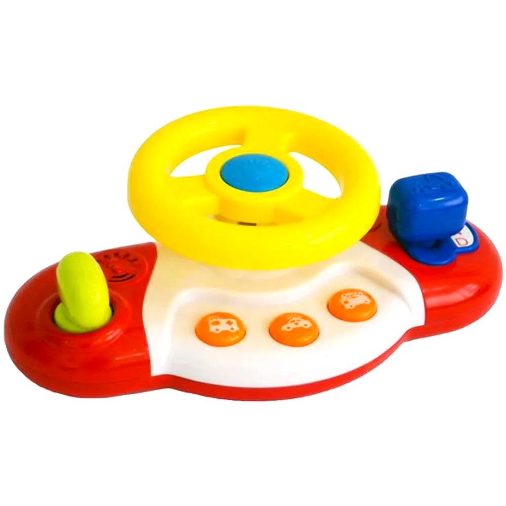 Brinquedo Baby Meu Primeiro Volante Sons Suaves Educativo Amarelo