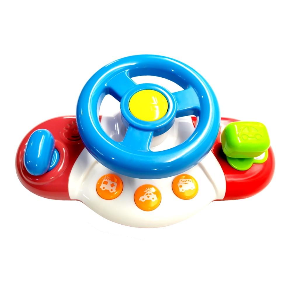 Brinquedo Baby Meu Primeiro Volante Sons Suaves Educativo Azul