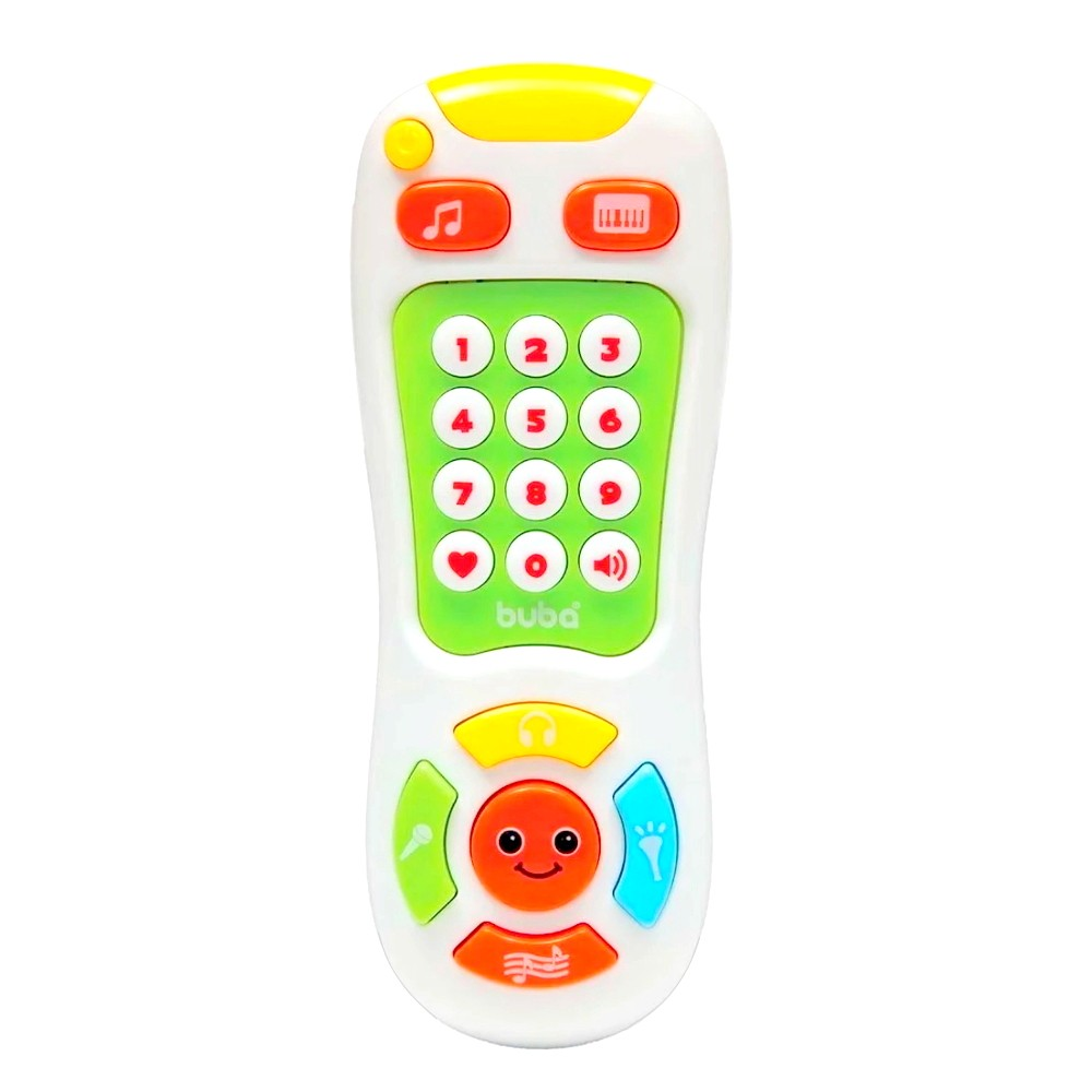Brinquedo Bebê controle Remoto Musical com Luzes e Músicas Branco