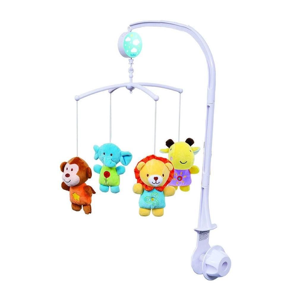 Brinquedo Berço Móbile Pelúcias Safari com Movimentos e Canção de Ninar