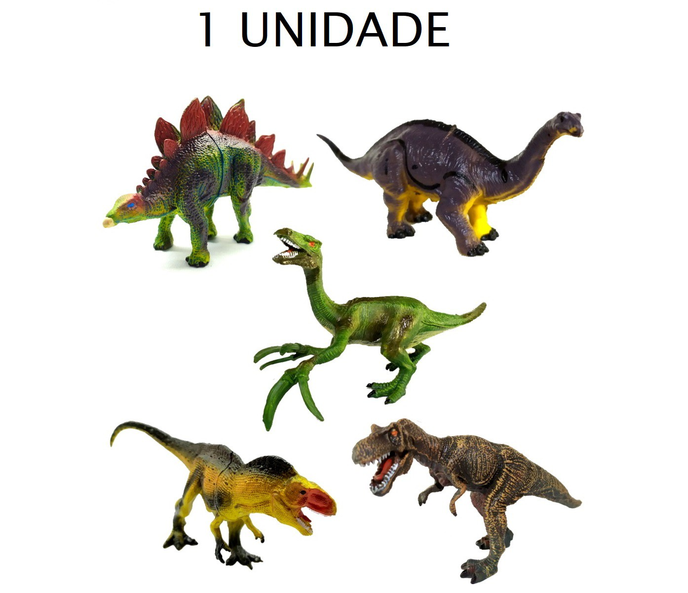 Brinquedo Boneco Dinossauro com Acessórios - 1 unidade