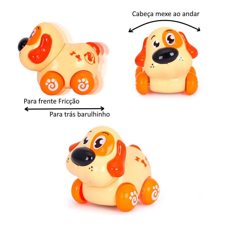 Brinquedo Carrinho Infantil Bebê Estimulante Turminha Animal Cachorro