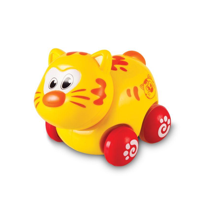 Brinquedo Carrinho Infantil Bebê Estimulante Turminha Animal Gatinho